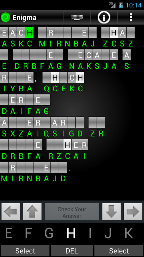Enigma Trial - Cryptograms- screenshot