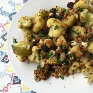 Mediterranean Roasted Cauliflower.