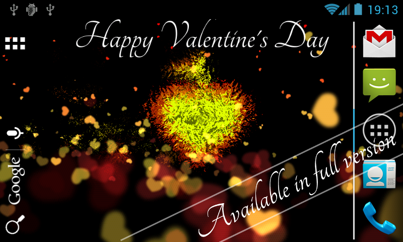 Valentine's Day Free LWP - screenshot