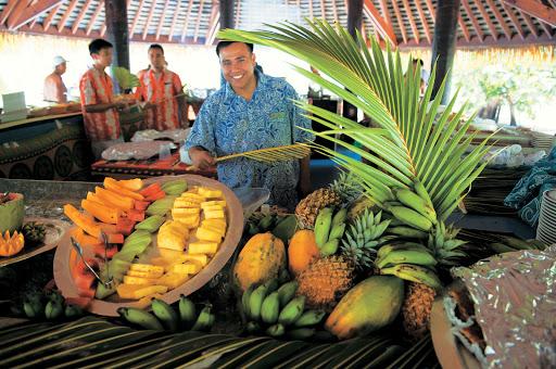 fruit_Paul_Gauguin - Papaya, pineapple and other fresh fruit, on a Paul Gauguin cruise.