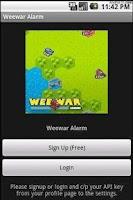 Screenshot of Weewar Alarm