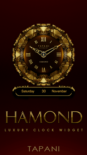 HAMOND Designer Clock Widget