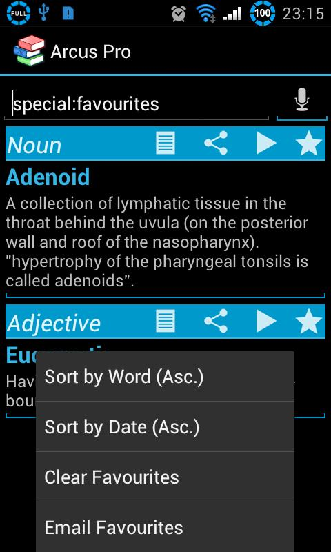 Arcus Dictionary Pro - screenshot