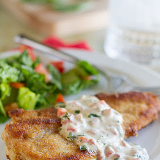 Chicken with Basil Cream Sauce