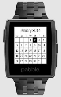 Calendar for Pebble