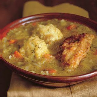 Chicken Fricassee with Dumplings.