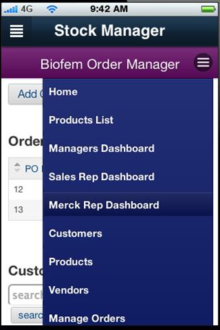 Biofem Stock Control