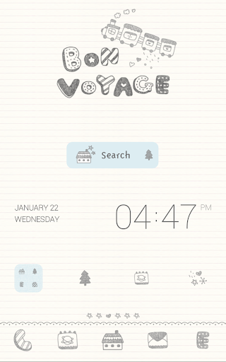 【免費個人化App】bon voyage 도돌런처 테마-APP點子