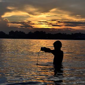 Moltel gold... by Arup Chowdhury - Landscapes Sunsets & Sunrises