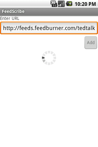 FeedScribe- screenshot