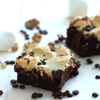 Decadent Rocky Road Brownies.