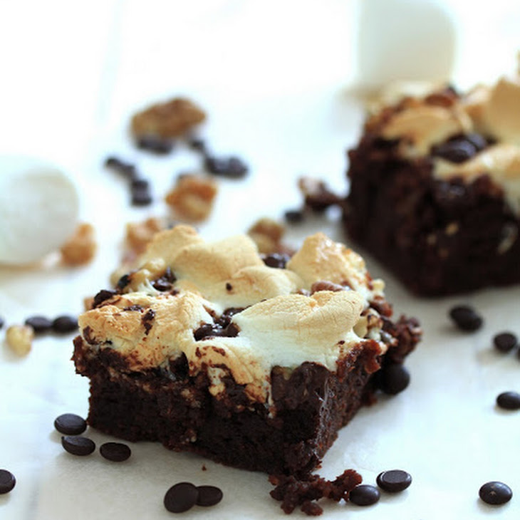 Decadent Rocky Road Brownies Recipe