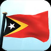 Timor-Leste Flag 3D Wallpaper
