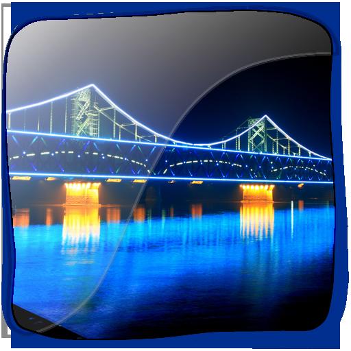 3D Beautiful City Bridge