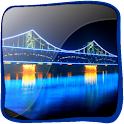 3D Beautiful City Bridge logo