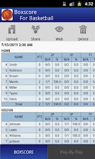 Boxscore For Basketball - screenshot thumbnail