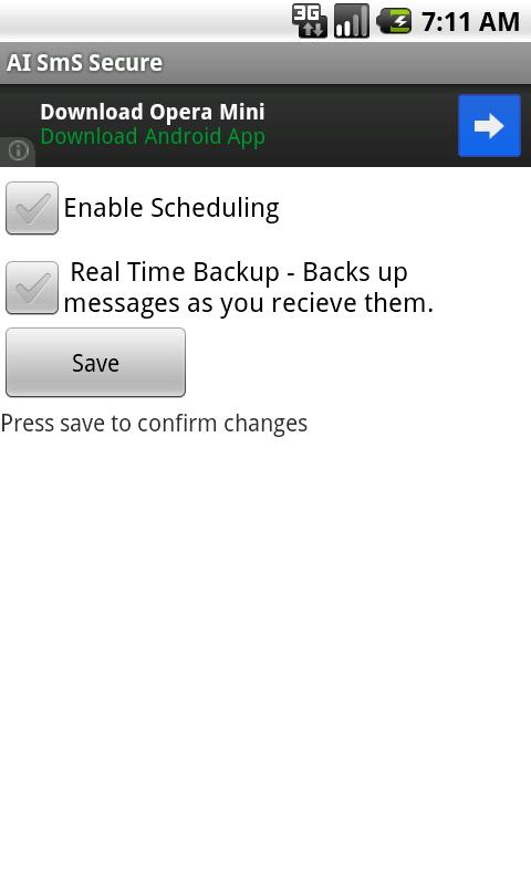 SMS Backup Scheduler & Restore- screenshot