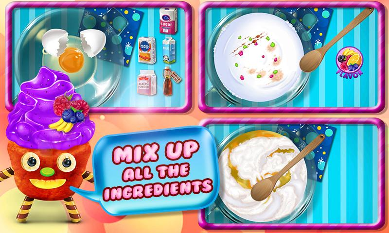 Cupcake Maker Crazy Chef- screenshot