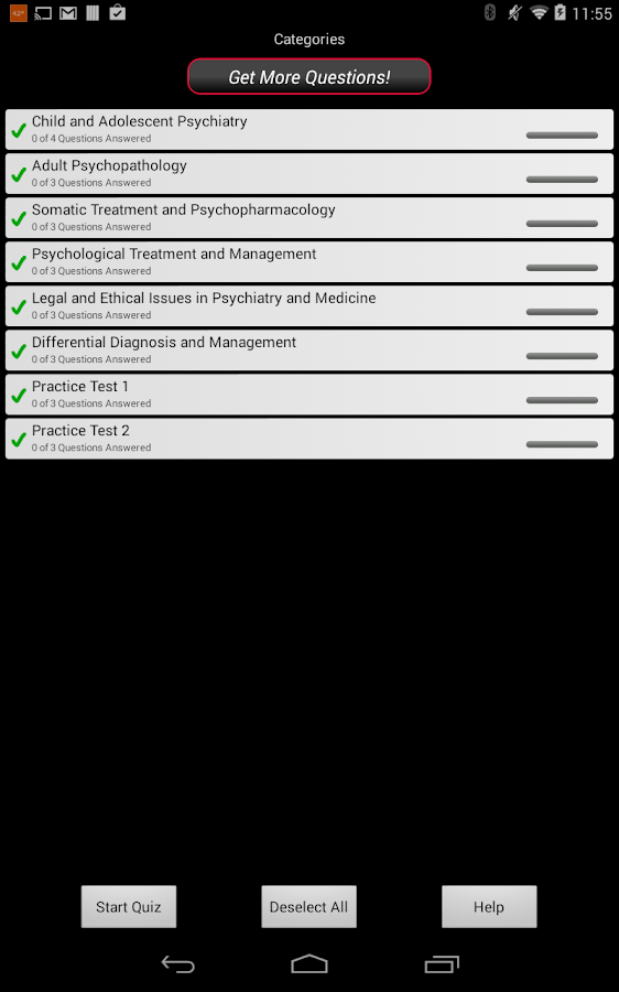 Psychiatry LANGE Q&A - screenshot