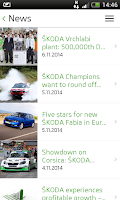 Screenshot of ŠKODA Media Services