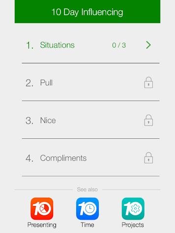 10 Day Influencing Screenshot