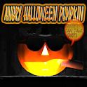 Angry Halloween Pumpkin logo
