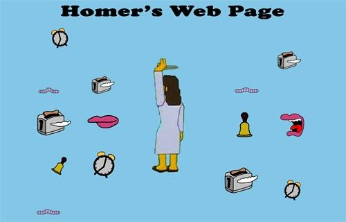 Homer Simpson's Web Page