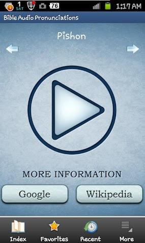 Bible Audio Pronunciations Screenshot