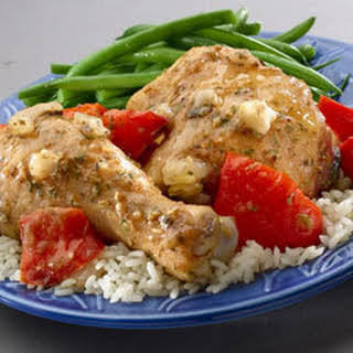 Slow Cooker Savory Herb Chicken.