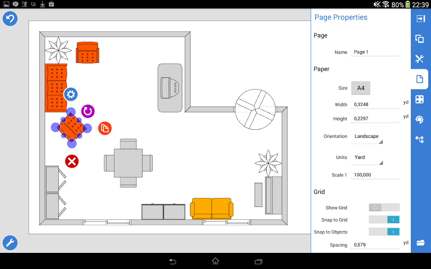 Grapholite floor plans android apps on google play for Floor plan drawing apps