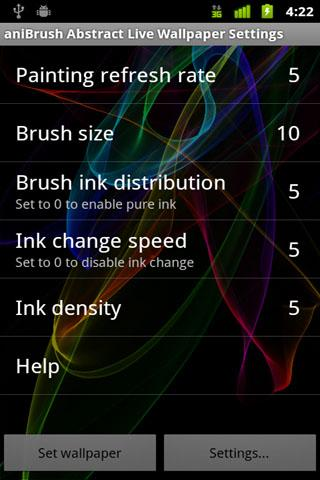 aniBrush Abstract Live W. P. - screenshot