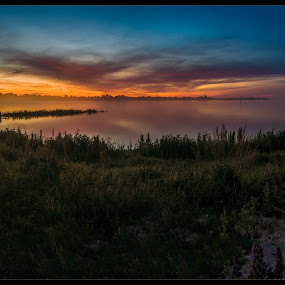 Summer night by Jörgen Tannerstedt - Landscapes Sunsets & Sunrises ( water, sweden, sunset, summer, night, ocean, sunrise, nightphotography, öland, nightscape )