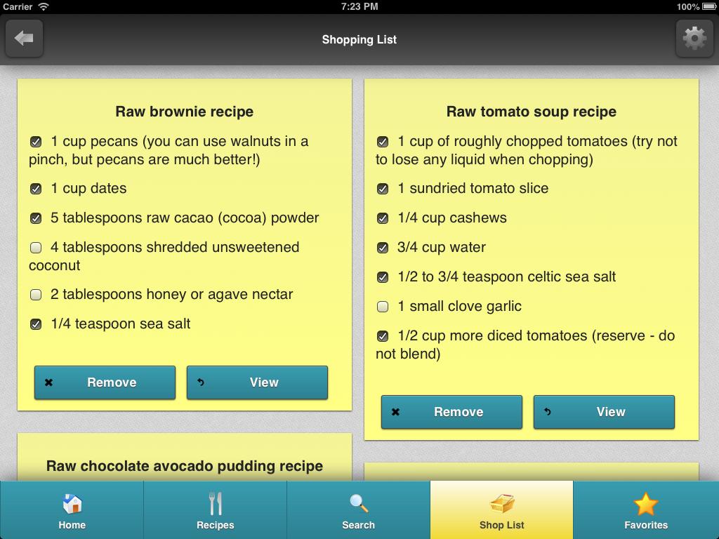 Rawtarian's Raw Recipes - screenshot