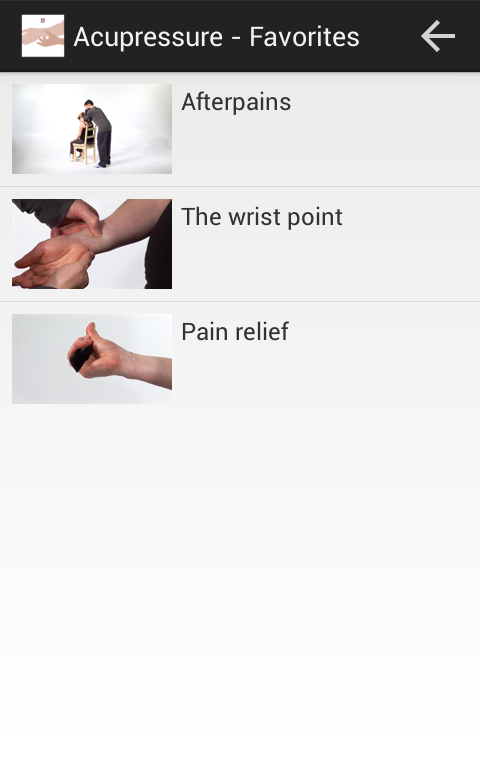 Acupressure labour pain relief- screenshot