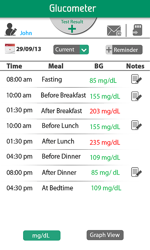 Diabetes Tracker - screenshot