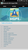 Screenshot of Bluetooth GPS License