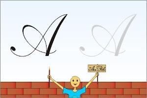 Screenshot of Kids Cursive Writing - Capital