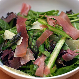 Shaved Asparagus, Pea, and Prosciutto Salad