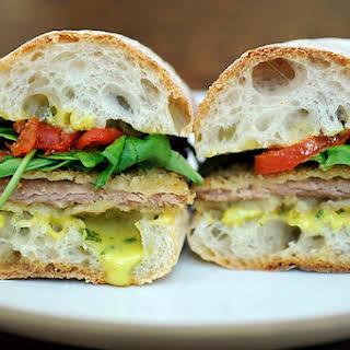 Pork Cutlet Sandwiches with Basil Aioli.