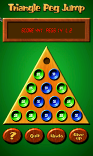 Triangle Peg Jump Puzzle Free- screenshot thumbnail