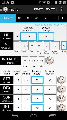 PCGen Character Sheet Lite