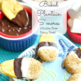 Baked Plantain S'mores.