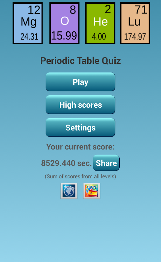 Periodic table test app gallery periodic table and sample with other ebooks library of periodic table test app urtaz Choice Image