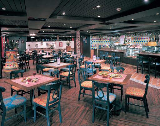 Norwegian-Sun-dining-Las-Ramblas - Head to  Las Ramblas, on deck 12 of Norwegian Sun, for hot tapas and cool drinks.