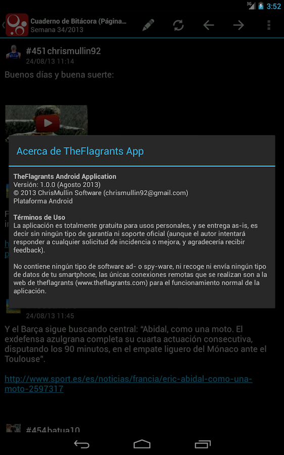 The Flagrant's App- screenshot