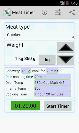 Meat Cooking Timer