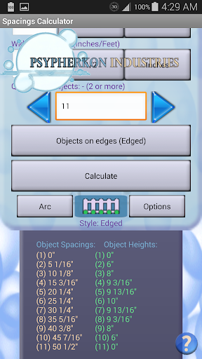 【免費工具App】Spacings Calculator-APP點子