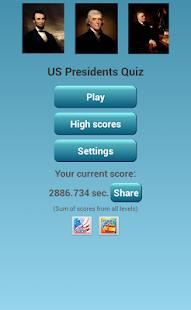 US Presidents Quiz - screenshot thumbnail