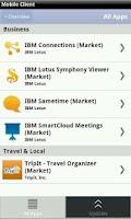 Screenshot of IBM Mobile Client