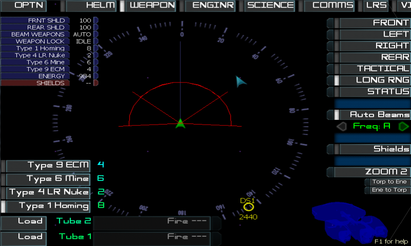 Artemis Spaceship Bridge Sim - screenshot